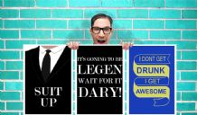 How I Met Your Mother Barney Suit Up Legen Dary Set of 3 Art Work - Wall Art Print Poster -  Quote Art Geekery